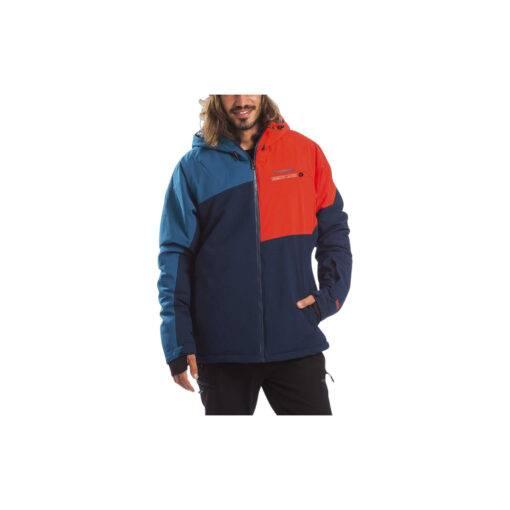 Geaca de schi pentru barbati - albastru/rosu
