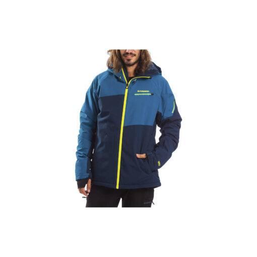 Jacheta de schi pentru barbati - albastru/verde